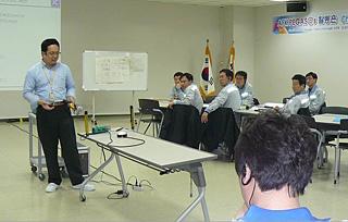 AGC(韓国)でのSBAフォロー研修(2014年)
