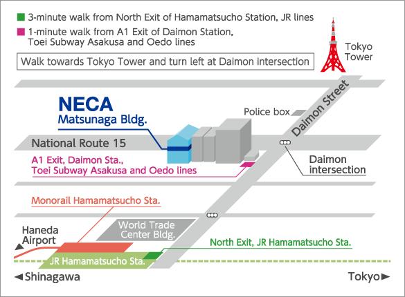 NECA map